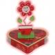 Valentínske srdiečko so stojanom na fotografiu