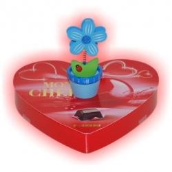 Čokoládové srdiečko so stojančekom na fotografie