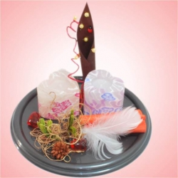 Valentínska dekorácia so sviečkami