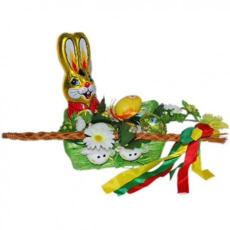 Veľkonočný košík, veľkonočný korbáč, zajačik, vajíčka