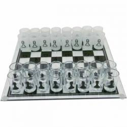 Sklenené šachy s pohárikmi