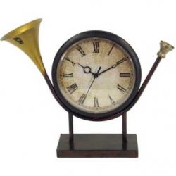Dekoračné retro hodiny - trúbka