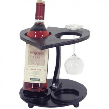 Drevený stojan na víno srdiečko