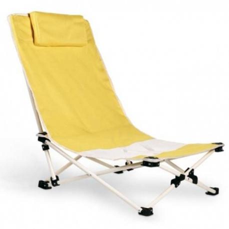 Plážová stolička s oceľovou konštrukciou