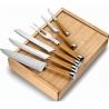 Kuchynská súprava nožov a vidličky v drevenej krabičke