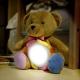 Plyšový medvedík s dotykovou lampou - na nočnom stolíku