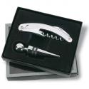 Čašnícky nôž s vývrtkou a zátkou v darčekovom balení