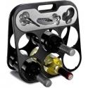Skladací stojan na víno s pomôckami na servírovanie vína