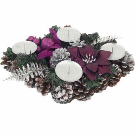 Adventný veniec fialový 30 x 20 cm