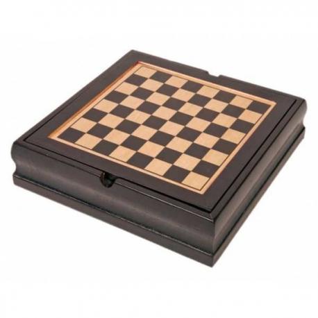 Štýlová drevená sada šiestich spoločenských hier