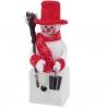Svietiaci snehuliak vianočná dekorácia