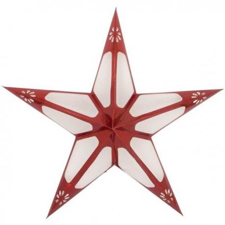 Veľká svietiaca vianočná hviezda červená