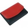 Dámska kožená peňaženka čierna, červená