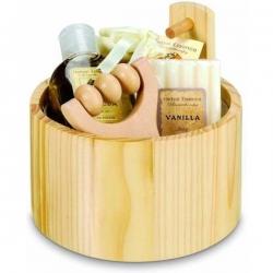 Vanilková sada pre ženy v drevenom vedierku