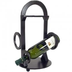 Luxusný drevený stojan na dve vína