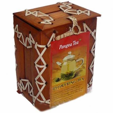 Kvitnúci čaj v darčekovej bambusovej krabičke