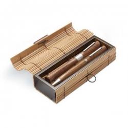 Drevená písacia súprava v bambusovej krabičke
