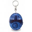 Modrý prívesok na kľúče - skrutkovače, baterka, meter