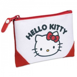 Detská peňaženka Hello Kitty bielo červená