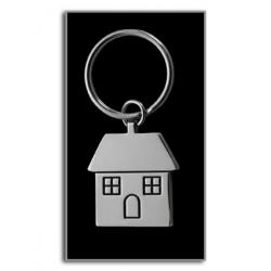Kovový prívesok na kľúče domček
