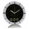 Stolné hodiny s dátumom, teplomerom a ukazovateľom dňa