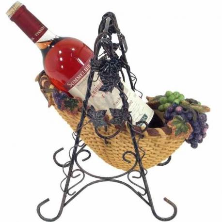 Stojan na víno s hroznom - tvar hojdačky