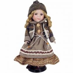 Keramická bábika v šatách