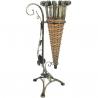 Veľký dekoračný stojan na dáždnik - prútie, kov
