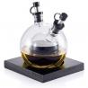 Dvojitá sklenená nádoba na olej a ocot