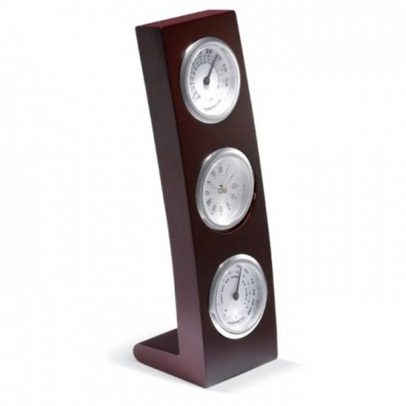 Luxusné drevené hodiny, vlhkomer, teplomer