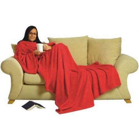 Červená deka na oblečenie