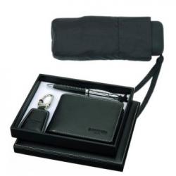 Značková sada Balmain - peňaženka, pero, kľúčenka, dáždnik