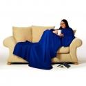 Modrá deka na oblečenie s rukávmi