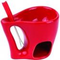 Luxusné značkové fondue s vidličkou - červené