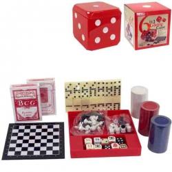 Šesť spoločenských hier v červenej kocke