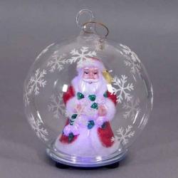 Svietiaca vianočná guľa - Mikuláš
