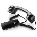 Retro slúchadlo pre mobilný telefón čierne