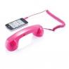 Ružové retro slúchadlo k mobilu pre ženy
