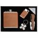 Ploskačka, zapaľovač, nožík, LED prívesok v darčekovej kazete