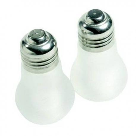 Soľnička a korenička v tvare žiarovky
