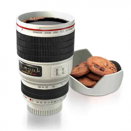 Hrnček pre fotografa biely foto objektív
