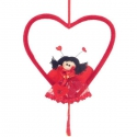 Valentínske srdiečko s lienkou - dekorácia na valentína
