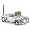 Rádio s hodinami v tvare autička