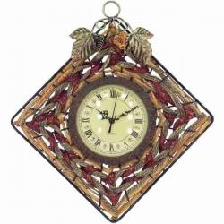 Netradičné nástenné hodiny prútie kov