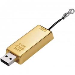 USB kľúč zlatá tehlička 1GB