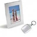 Kovový fotorámik s kľúčenkou na fotografiu