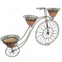 Veľký bicykel s troma kvetináčmi