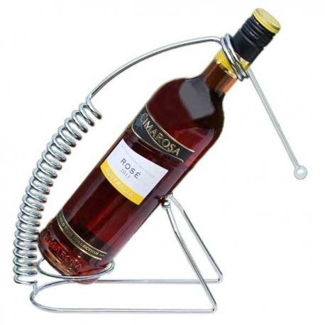 Štýlový stojan na víno s pružinou