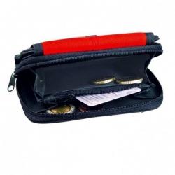 Dvojfarebná peňaženka - čierno červená
