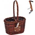 Piknikový košíček na dve vína s nožíkom